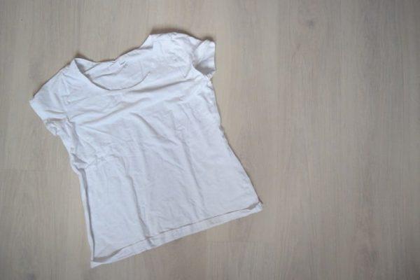 De T-shirt Haardroogtruc
