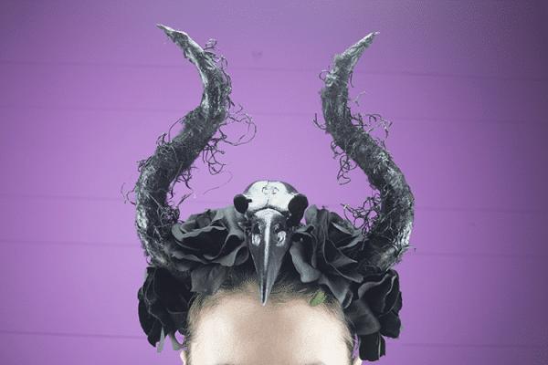 Halloween Raven Haarband DIY How to