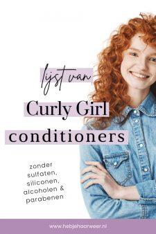 Lijst van Curly Girl conditioners
