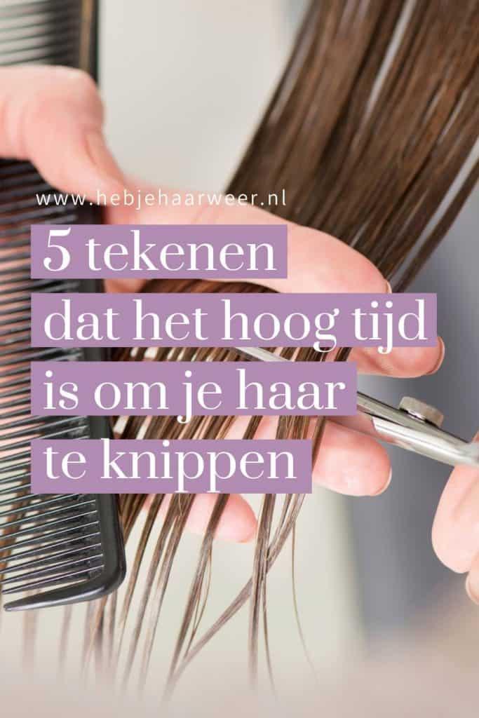 5 tekenen dat het tijd is om je haar te knippen