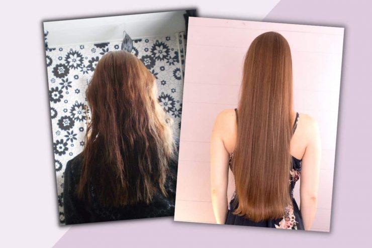 Over mij lang haar voor en na