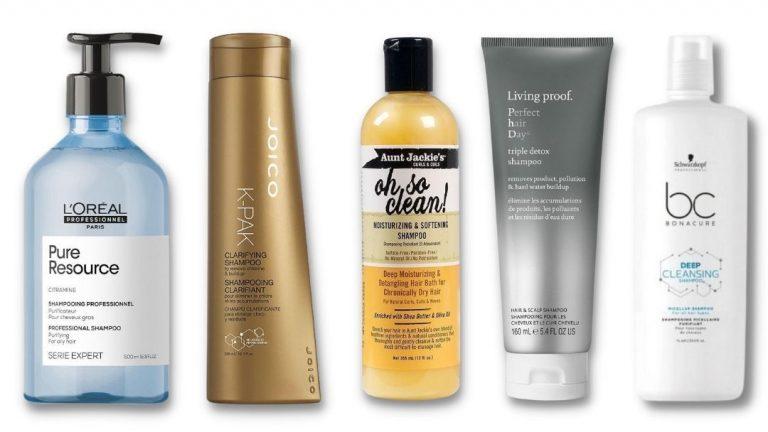 Een overzicht van clarifying shampoos - met siliconen, zonder siliconen of curly girl approved